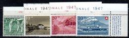 519/1500 - SVIZZERA 1947, Unificato N. 437/440 Con Gomma Integra ***  MNH Pro Patria - Pro Patria