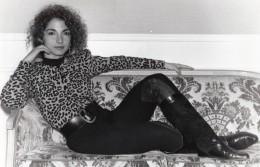 Portrait De La Chanteuse Gloria Estefan Pop Star Ancienne Photo 1989 - Famous People