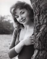 Actrice De Theatre Anglaise Anne Briley Portrait Ancienne Photo 1961 - Famous People