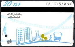 1 Ticket Transport Algeria Bus Algiers Alger - Biglietto Dell'autobus - Green Trees Billete De Autobús - 1 Busticket - Bus