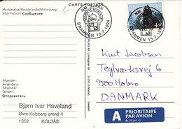 Norway Carte Postale CHESS Postmark Drammen 13-7-1994 Sent To Denmark - Chess