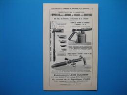 (1914) Appareils Pour Soudage, Brasage - LÉON GUILBERT - à Paris --- Siphons Pour Boissons Gazeuses PAUL BOBET à Paris - Publicités