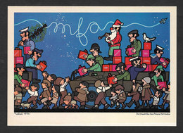 Portugal Carte Postale 1975 MFA Les Cadeaux Des Forces Armées Révolution Oeillets Illustrateur João Abel Manta Postcard - Evènements