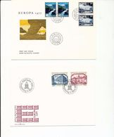 Norway EUROPA 77 Views Liechtenstein Buildings EUROPA 78 With Day Of Issue Cancels 1977-78  A04s - Stamps