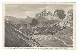 Strada Delle Dolomiti Dal Passo Pordoi Col Rotella E Il Sassolungo. - Trento