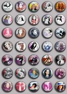 SHEILA Music Fan ART BADGE BUTTON PIN SET 1 (1inch/25mm Diameter) 35 DIFF - Musique