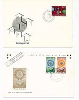 Liechtenstein EUROPA 61 Ireland EUROPA 64 With Day Of Issue Cancels 1961 1964  A04s - Collections (without Album)