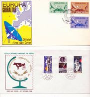 Gibraltar EUROPA 79 Telecom Malta EUROPA FAO 1968 With Day Of Issue Cancels 1979  A04s - Stamps