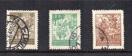 Jugoslavia - 1945 - Partigiani - 3 Valori - Usati - Vedi Foto - (FDC12107) - Usati