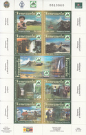2004 Venezuela National Parks Birds Education Hydro Miniature Sheet Of 10 Complete MNH - Venezuela