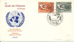 Belgium FDC 22-11-1962 Human Rights Complete Set Of 2 With Cachet - FDC
