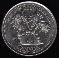 CANADA - 2000 Circulating 25¢ Coin 'July Celebration' - Canada
