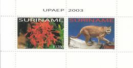 2003 Surinam Flora Fauna Cats Flowers Fleurs Complete MNH - Surinam