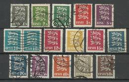 Estland Estonia 1928/1929/1935 Lions Coat Of Arms Complete Set O - Estonia