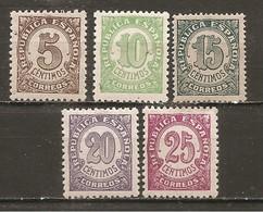 España/Spain-(MH/*) - Edifil  745-49 - Yvert 612A-16A - 1931-50 Neufs