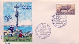 1973, SOBRE CON MATASELLOS ESPECIAL , GALICIA - IV EXPOSICIÓN FILATÉLICA DE LA CORUÑA - 1971-80 Storia Postale