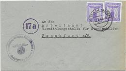 DR Dienst Brief Der NSDAP Kreisleitung Buchen 18.7.44 Mosbach Baden Mef. Mi. D159 - Officials