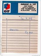 47 - FACTURE ESSENCE . STATION ELF VILLENEUVE STADE . HERAUD MICHEL VILLENEUVE-SUR-LOT - Réf. N°17084 - - Transport