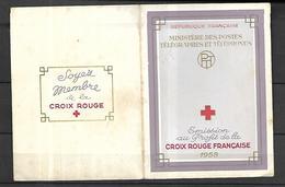Carnet Croix - Rouge 1958  Cat Yt N° 2007 N** MNH - Croix Rouge
