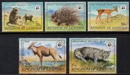 Lesotho - 1982 WWF Wildlife Set (**) # SG 468-472 - W.W.F.