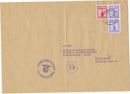 DR Dienst Brief Der NSDAP Ortsgruppe Bilatal Sächs.Schweiz 26.2.44 Mif. Mi.D159,161 - Officials