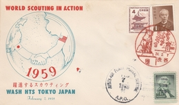 LSC 1959 - SCOUTISME - TOKYO  JAPON - The Israel Boy & Girl Scouts Fédération - Brieven En Documenten