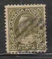 CANADA Scott # 119 Used - KGV Admiral Issue - 1911-1935 Reign Of George V