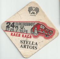 Bierviltje - 24 U Francorchamps 1974 - Stella Artois - Beer Mats