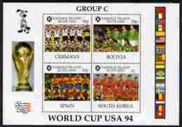 Easdale 1994 Football World Cup - Group C Countries Perf Sheetlet Containing 4 Values, Unmounted Mint - Local Issues