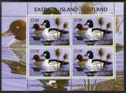 Easdale 2004 Conservation Sheetlet Containing 4 X �3 Values Showing Ducks, Unmounted Mint - Local Issues