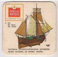 Bierviltje - Stella Artois - Nat.Scheepvaartmuseum Antwerpen - 5. Kof 18° Eeuw - Beer Mats