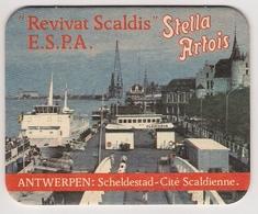 Bierviltje - Stella Artois - Antwerpen Scheldestad - Revivat Scaldis - E.S.P.A. - Beer Mats