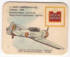 Bierviltje - Stella Artois - Lucht En Ruimtevaartmuseum Brussel - NORTH American AT-6.C - TEXAN 1938 - Beer Mats