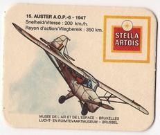 Bierviltje - Stella Artois - Lucht En Ruimtevaartmuseum Brussel - AUSTER A.O.P.-6 - 1947 - Beer Mats