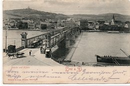LINZ A DONAU-BRUCKE UND URFAHR-VIAGGIATA 1908 - Linz