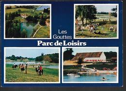 Cpm 0318292 Parc De Loisirs Des Gouttes Thionne 4 Vues Situées Sur Carte - Autres Communes