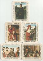 Bierviltje - Stella Artois - Tentoonstelling Dirk Bouts - St.Pieterskerk Leuven 1975 - 5 Stuks - Beer Mats