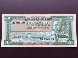 ETHIOPIA P25A 1 DOLLAR 1966 AUNC - Ethiopia