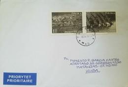 O) 2010 POLAND, LEOPARD -ZEBRA- ANIMALS, PRIORITY SERVICE TO CARIBE - 1944-.... Republic