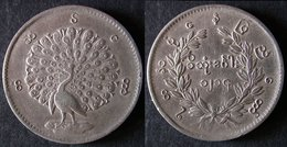 MYANMAR  RUPPEE  1852 Argent  PAON  BIRMANIE / BURMA /   PORT OFFERT - Birmania