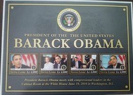 L) 2010 SIERRA LEONE, PRESIDENT OF THE UNITED STATES BARACK OBAMA, MNH - Sierra Leone (...-1960)
