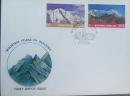 L) 1985 PAKISTAN, MOUNTAIN PEAKS OF PAKISTAN, KARAKORAM, WESTERN HIMALAYA, FDC - Pakistan