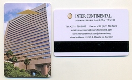 Inter-Continental, Johannesburg, South Africa, Used Magnetic Hotel Room Key Card, # Intercontinental-28 - Hotel Keycards
