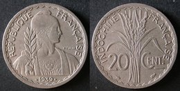 INDOCHINE  20 Cent 1939  FRANCE  INDOCINA   PORT OFFERT - Colonias