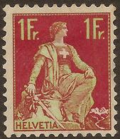 SWITZERLAND 1908 1f Green And Purple SG 245 HM #JM82 - Svizzera