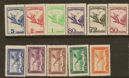 HUNGARY 1927 Air Set SG 478a-89 UNHM #JP141 - Poste Aérienne
