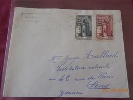 Lettre Du Maroc De 1960 (timbres Avec Surcharge) A Destination De Sens - Morocco (1956-...)
