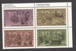 Canada, MNH, 1990, #1298-1301, 2e Guerre Mondiale, Second World War, Militaria, Tricot - 2. Weltkrieg