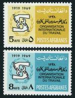 Afghanistan 794-795,MNH.Michel 1039-1040. ILO,50th Ann.1969. - Afghanistan