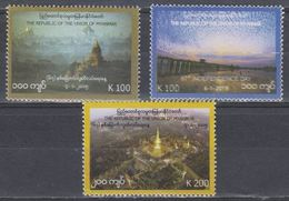 Myanmar 2015 The 67th Anniversary Of Independence Stamps 3v MNH - Myanmar (Burma 1948-...)